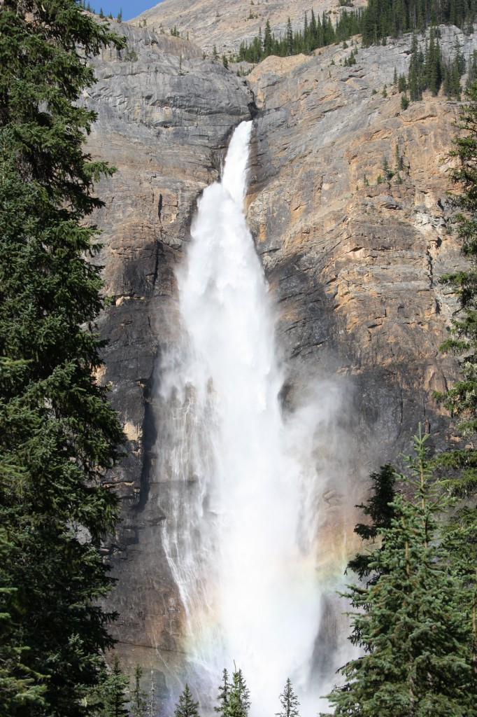 Takakkaw Falls, yep, it even comes with a built in rainbow.